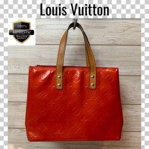 Louis Vuitton satchel bag reade vernis red handbag
